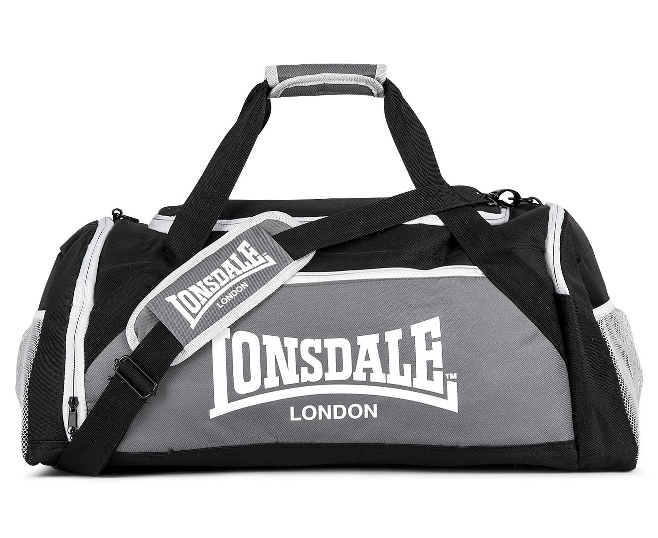 Lonsdale Weekender Duffle Bag - Black Steel Fog  862a6cb884fb4