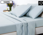 Luxury Living 1500TC Mega Queen Bed Sheet Set - Pastel Blue 1