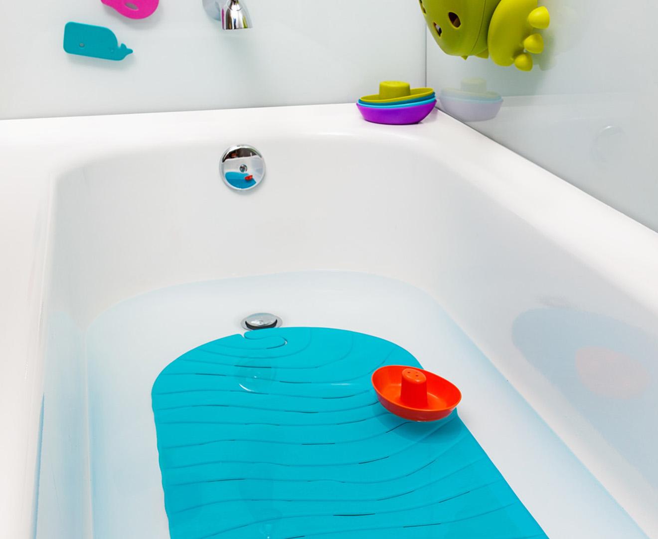 Boon Ripple Baby Bathtub Mat Blue Catch Co Nz