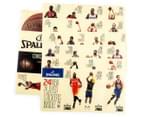 SPALDING NBA Mini Backboard w/ Player Stickers - Black/Grey 6
