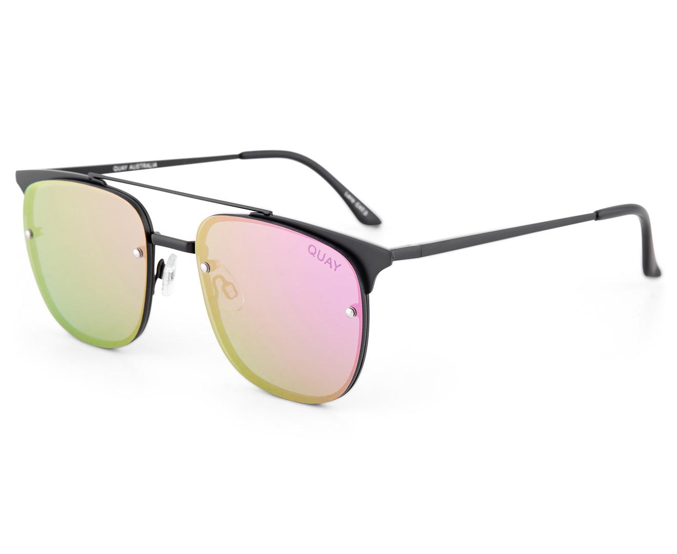 83d781d062 Quay Australia Women s Rimless Private Eyes Sunglasses - Black Purple