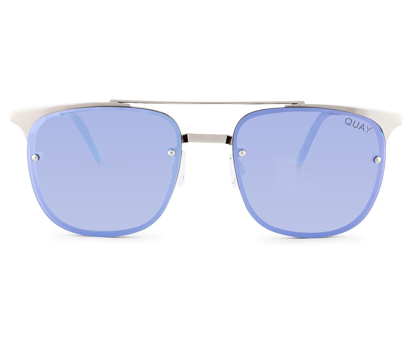 d1803bc543 Quay Australia Women s Rimless Private Eyes Sunglasses - Silver Violet
