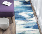 Rug Culture 280x190cm Chelsea Sedrick Super Soft Power Loomed Modern Rug - Blue 5
