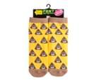 Smiling Poo Socks 'Shit Happens' - Yellow/Brown 3