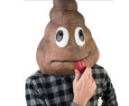 Madheadz Koolface Smiling Poo Party Mask - Brown 2