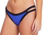 Seafolly Women's Block Party Brazilian Pant - Blue Ray 1