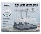 Polder Wine Glass Drier/Storage Rack - Grey  1