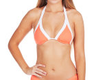 Seafolly Women's Block Party Slide Triangle Bikini Top - Nectarine 1