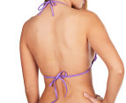 Seafolly Women's Shimmer Slide Triangle Bra - African Violet 2