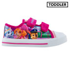 Paw Patrol Kids' Wicklow Canvas Shoe - Pink 1