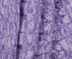 Kids' 140x85cm Mermaid Blanket - Purple 4
