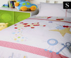 Happy Kids Hey Diddle Diddle Single Bed Quilt Cover Set - Multi 1
