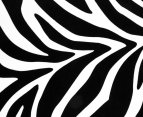 Round Zebra 150cm Premium 100% Cotton Beach Towel - Black/White 3
