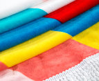 Round Broken Stripes 150cm Premium 100% Cotton Beach Towel - Multi 4