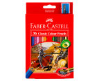Faber-Castell Classic Colour Pencils 36-Pack w/ Sharpener - Multi 1