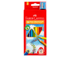Faber-Castell Triangular Junior Colour Pencils 20-Pack w/ Sharpener - Multi 1