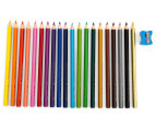 Faber-Castell Triangular Junior Colour Pencils 20-Pack w/ Sharpener - Multi 2