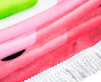 Round Watermelon Abstract 150cm Premium 100% Cotton Beach Towel - Multi 4