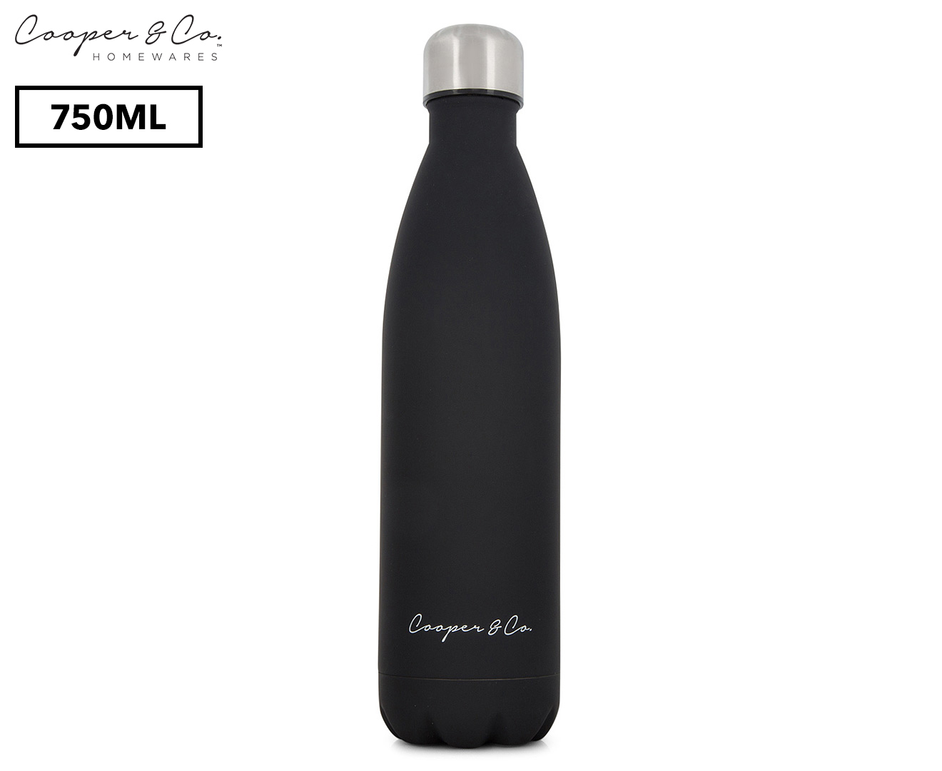 cooper  u0026 co  insulated water bottle 750ml  matte finish