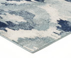 Rug Culture 300x80cm Mirage Modern Rug - Blue 2