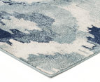 Rug Culture 400x80cm Mirage Modern Rug - Blue 2