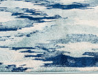 Rug Culture 400x80cm Mirage Modern Rug - Blue 3