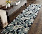 Rug Culture 400x80cm Mirage Modern Rug - Blue 6