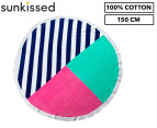 Round Sail 150cm Premium 100% Cotton Beach Towel - Multi 1