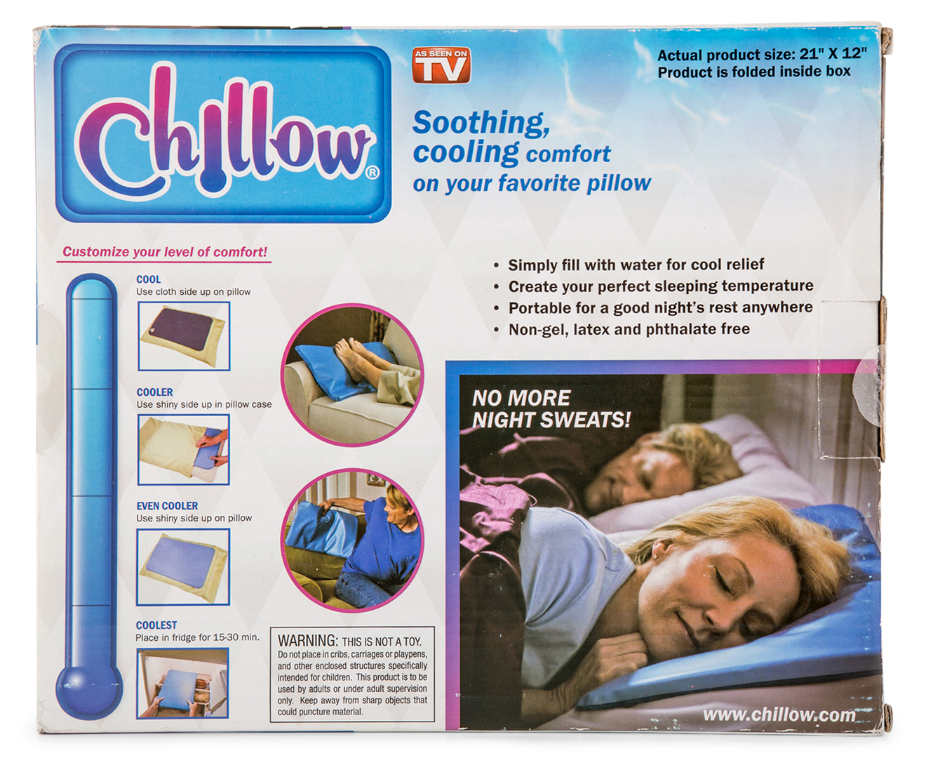 Chillow Soothing Amp Cooling Pad Blue Great Daily Deals