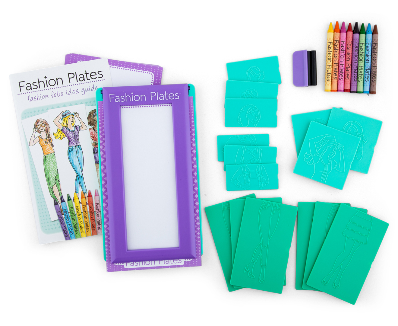 Renewed Fashion Design Studio Rubbing Plate Activity Kit Arts Crafts 9 Plates 4 Pencils Crayon Great Gift For Girls And Boys Best For 5 6 7 Year Olds And Up