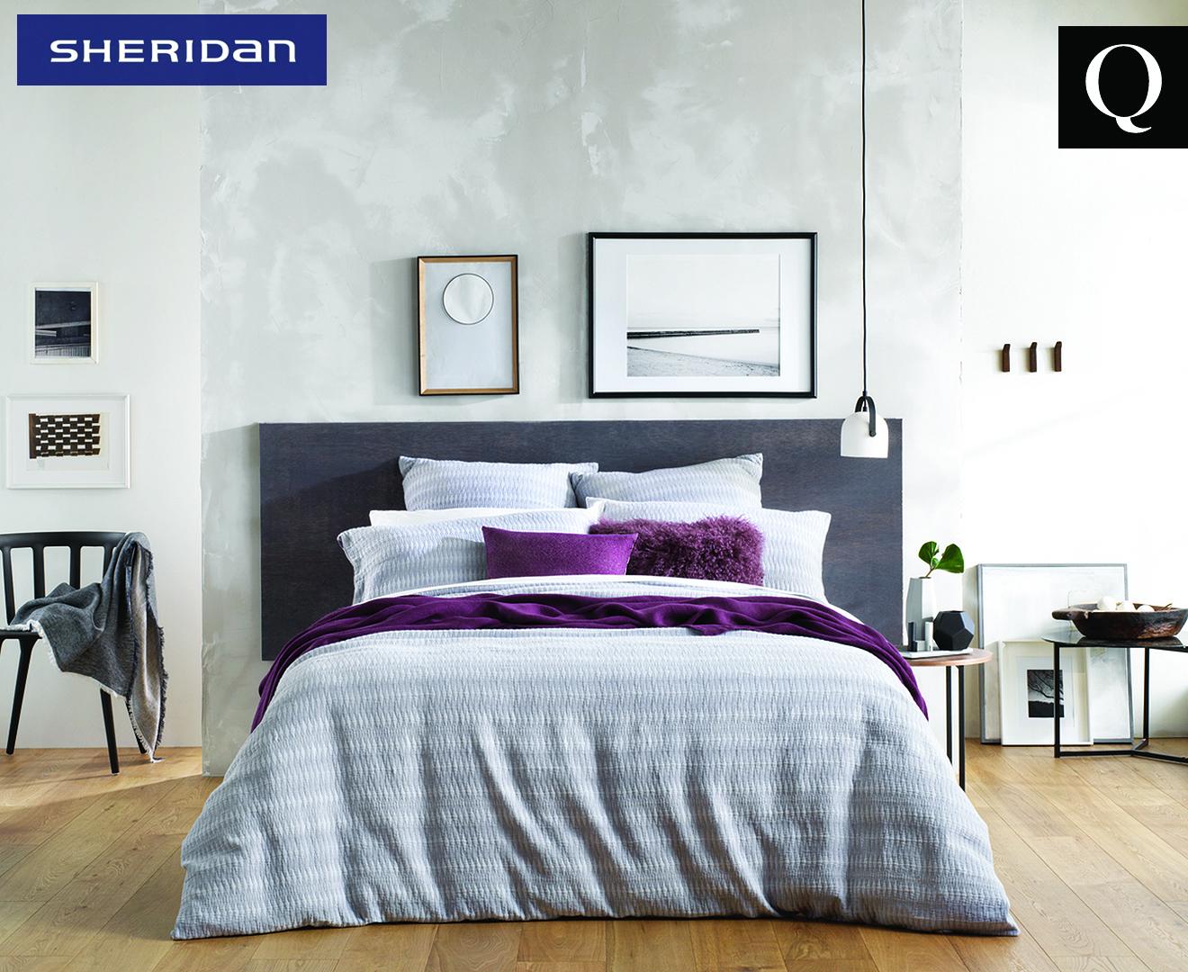 Sheridan Docklands Queen Bed Quilt Cover - Stone Grey