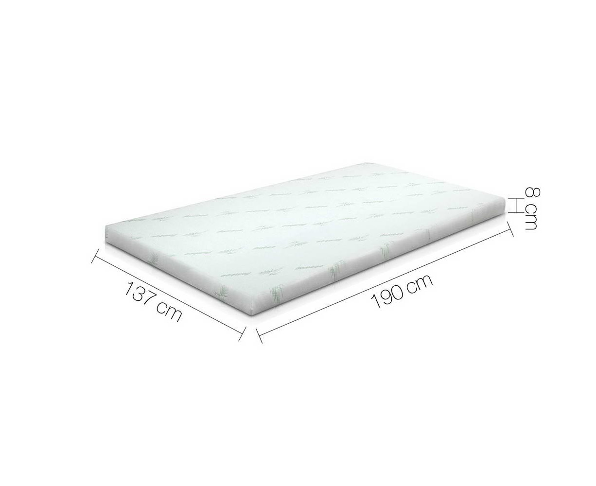 giselle bedding cool gel memory foam mattress topper bamboo 5 zone