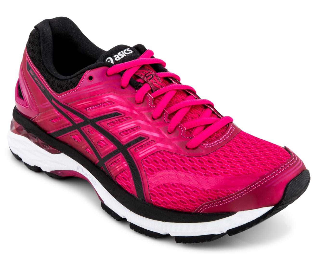 Asics Women S Gt 2000 5 Shoe Cosmo Pink Black White