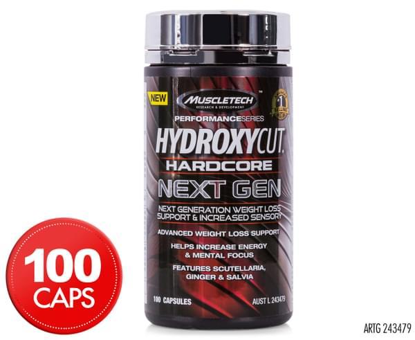 MuscleTech Hydroxycut Hardcore Next Gen Weight Loss Support