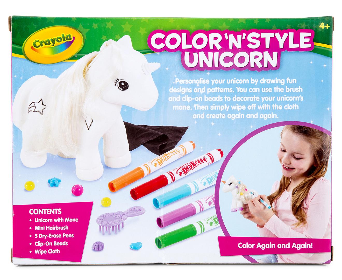 Crayola Color 'N' Style Unicorn   Mumgo.com.au