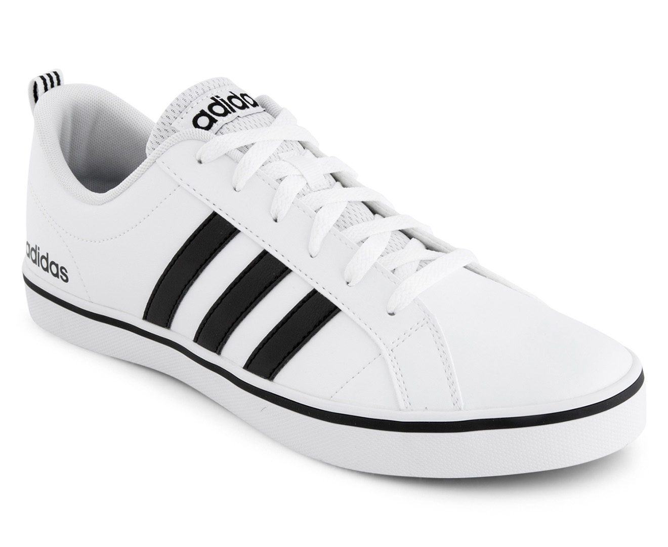pretty nice b5f54 42ff3 Adidas NEO Mens VS Pace Leather Shoe - WhiteBlackBlue  Catch
