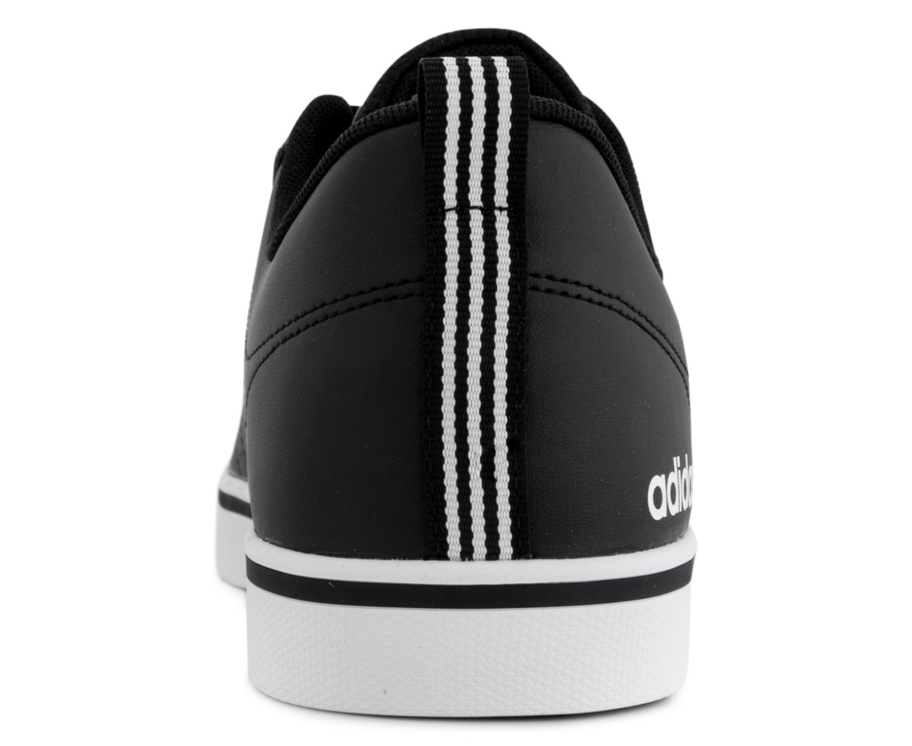 a51096f7b138e Adidas NEO Men s VS Pace Leather Shoe - Black White Scarlet
