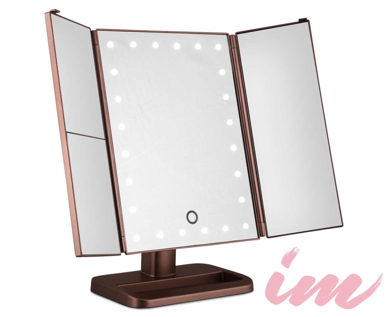 Makeup Mirror.Details About Illuminate Me 3 Way Makeup Mirror W Led Lights Rose Gold
