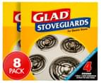 2 x Glad Electric Stove Guards 4pk 1
