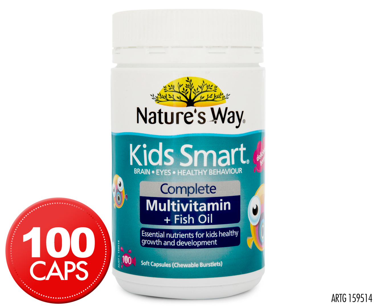 Nature 39 s way kids smart complete multivitamin fish oil for Daily fish oil