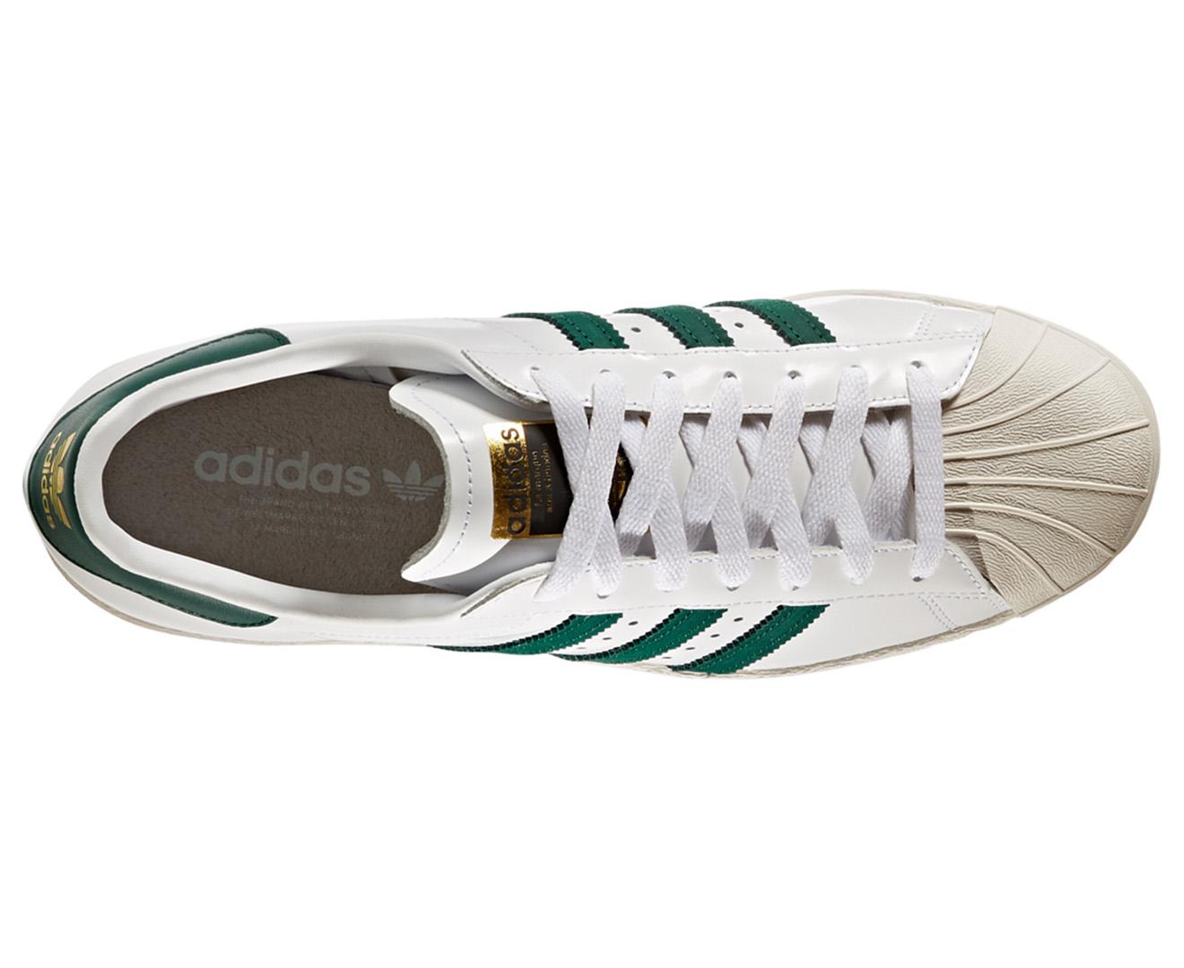 outlet store 989fc 8fc96 Adidas Originals Unisex Superstar 80s Shoe - White Green Gold Metallic    Catch.com.au
