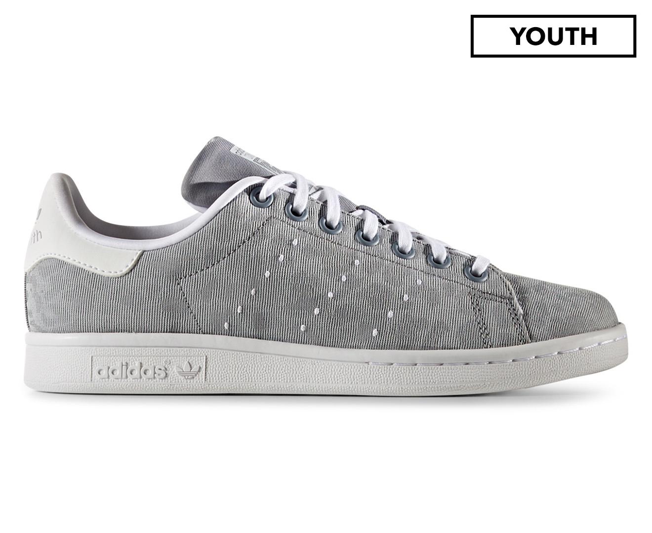 Adidas Originals Kids' Stan Smith Cheetah Swift Shoe - Grey/Grey/White
