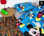 Disney Mickey Mouse Reversible Single Bed Quilt Cover Set - Multi 1