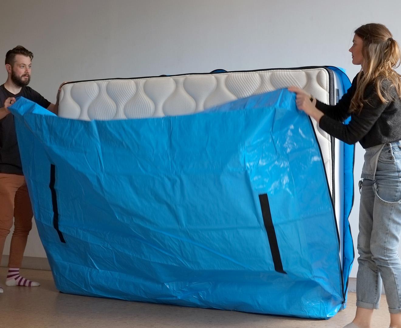 Mattibag Queen Bed Mattress Storage Bag Blue Catch Com Au