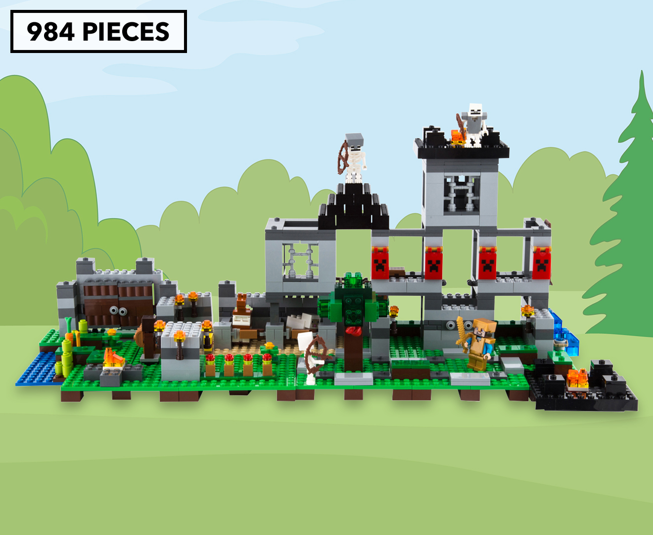 Lego minecraft the fortress building set great daily for Fortress build