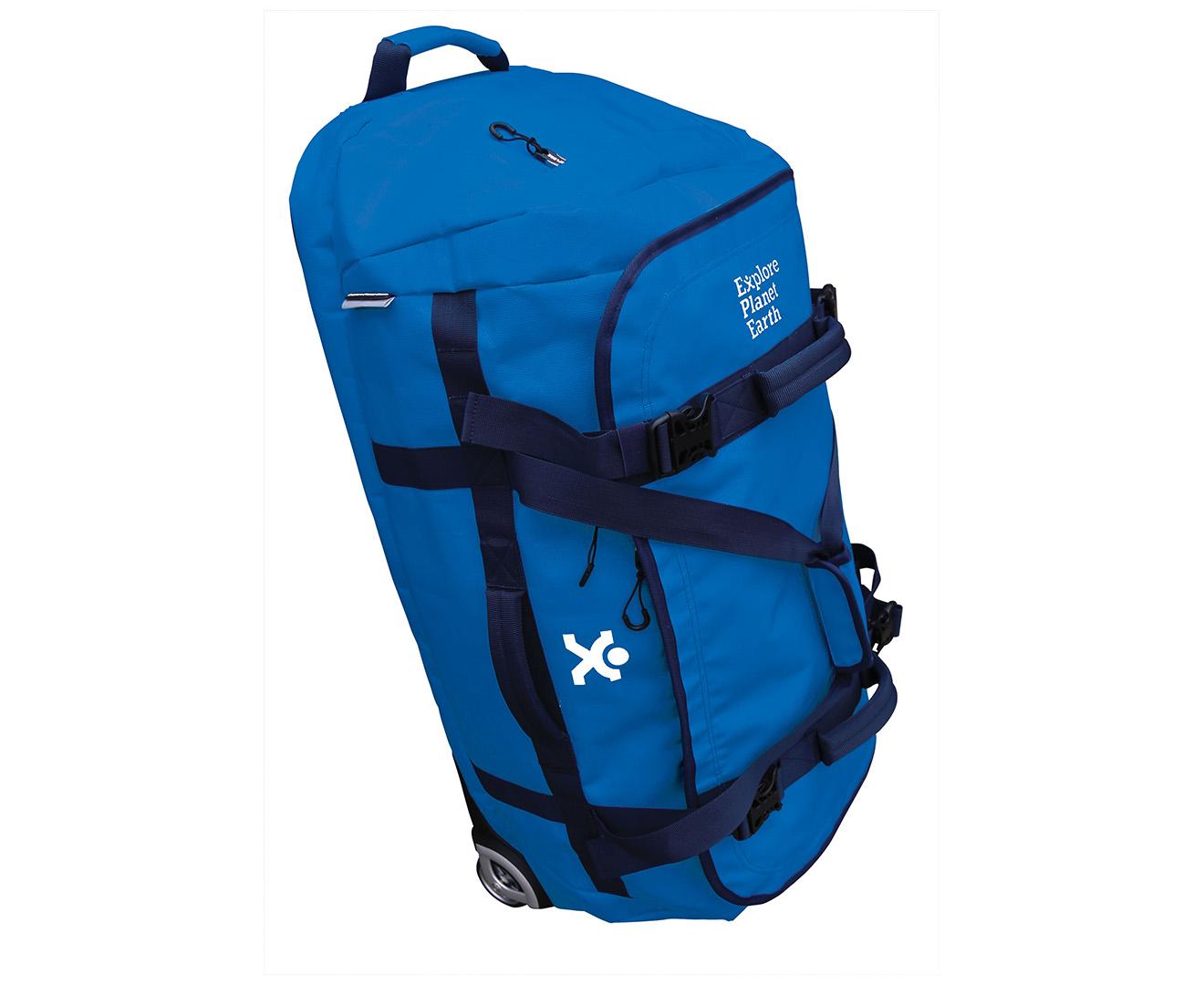 fbdb489309 Explore Planet Earth 90L Pisces Roller Duffle Bag - Navy Blue ...
