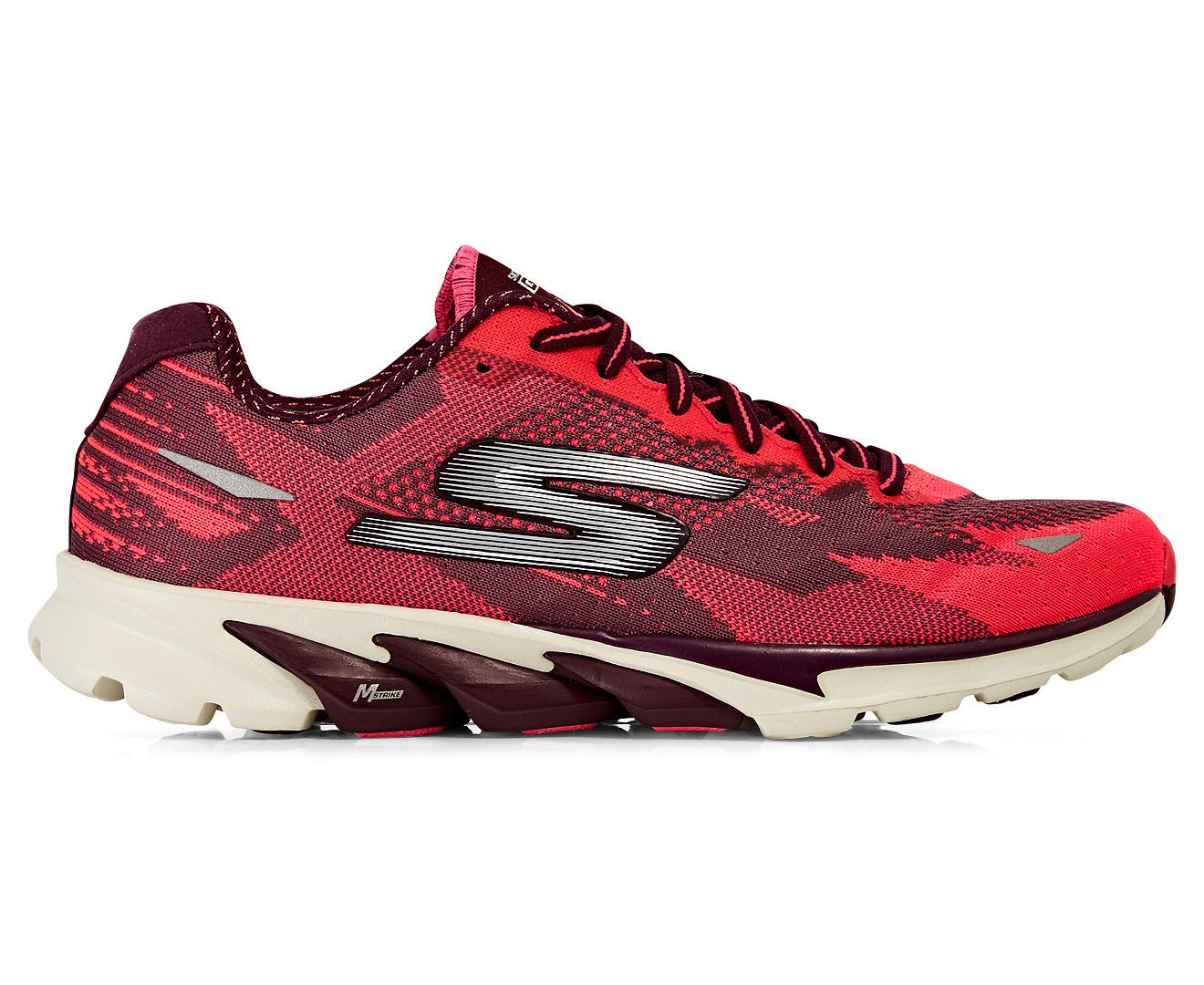 skechers running shoes 2016. skechers women\u0027s gorun 4 2016 shoe - burgundy/hot pink running shoes