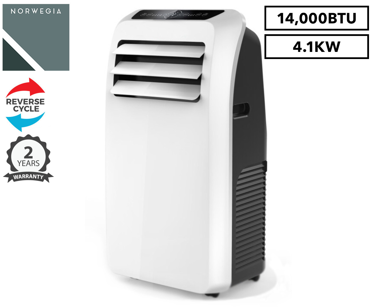 norwegia 4 1kw reverse cycle portable air conditioner  14 000btu