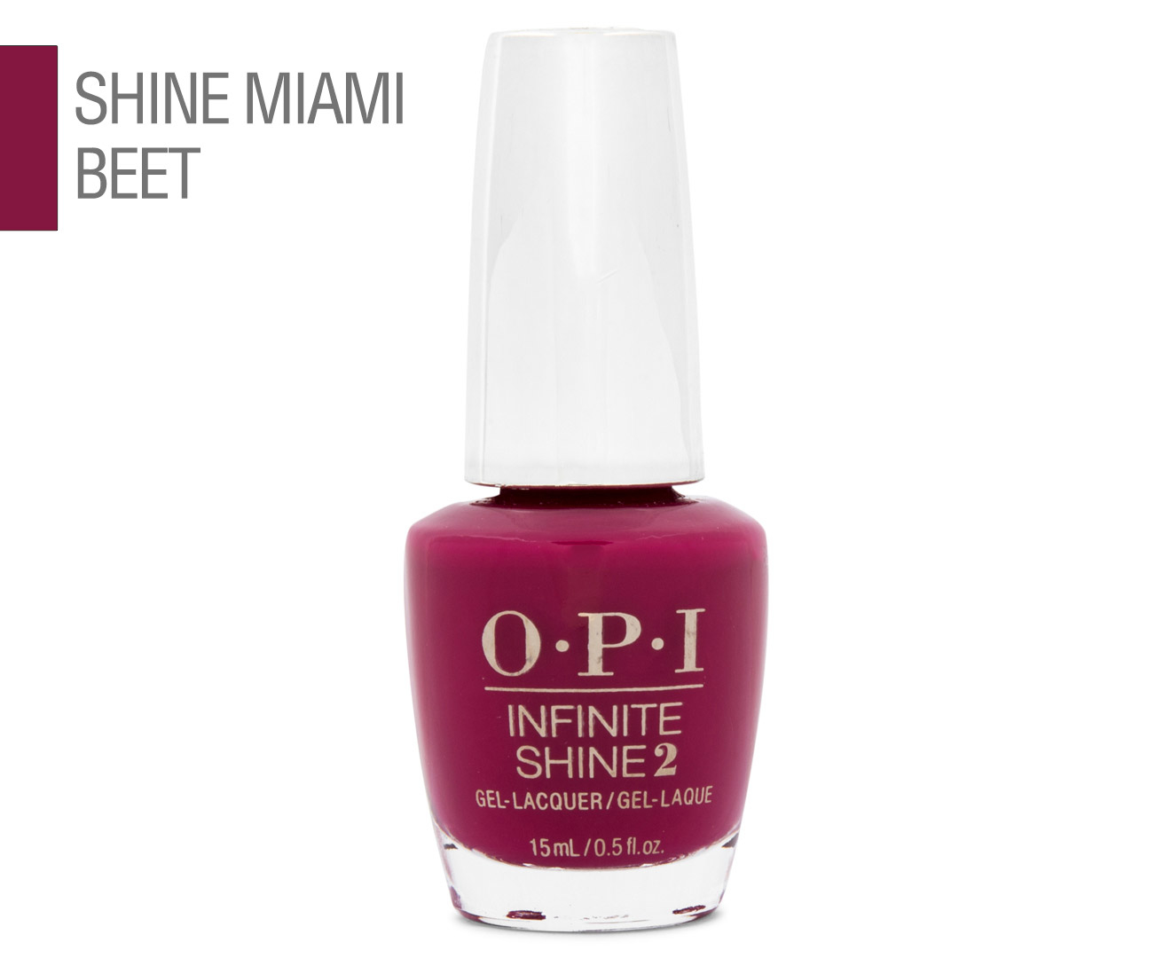 OPI Infinite Shine 2 Gel Nail Lacquer 15mL - Miami Beet 94100007571 ...