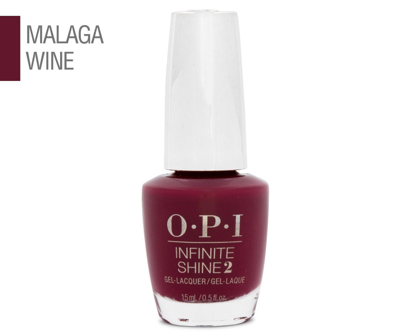 OPI Infinite Shine 2 Gel Nail Lacquer 15mL - Malaga Wine 94100009704 ...